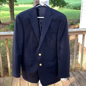 Chaps Blazer Gold Colored Buttons 38R Wool/Poly